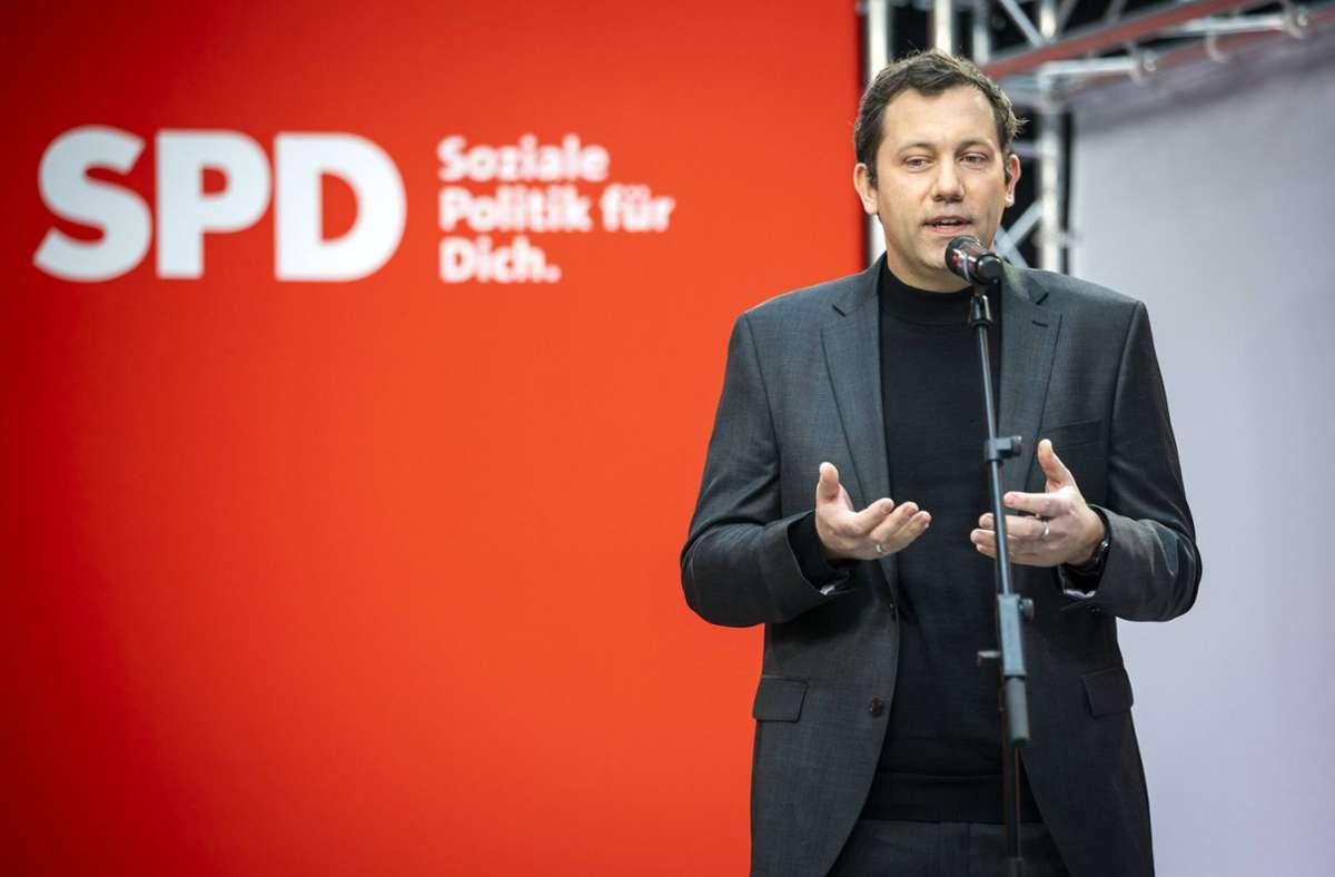 """""""Ich halte die Ampel für vorstellbar auf Bundesebene"""", sagte Generalsekretär Lars Klingbeil. Foto: imago images//Janine Schmitz"""