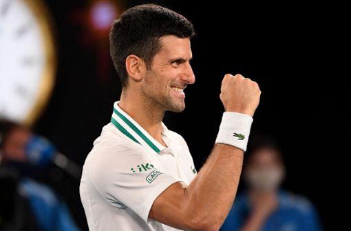 Novak Djokovic zum neunten Mal in Melbourne im Endspiel