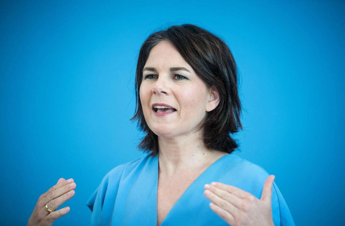 Grünen-Kanzlerkandidatin Annalena Baerbock (Archivbild) Foto: AFP/STEFANIE LOOS