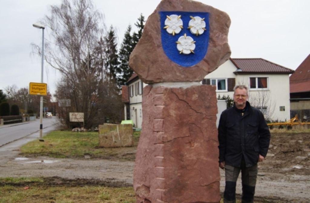 Markus Wolf hat seinem Nachbarn ein besonderes Geschenk gemacht. Foto: Bürkle