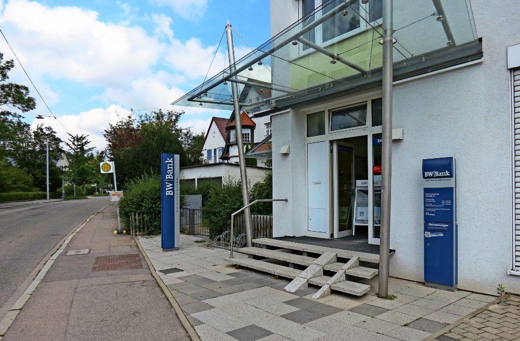 Nur noch bis Freitag, 22. September, sind Beratungsgespräche  bei der BW-Bank in Sonnenberg möglich. Danach gibt es nur noch ein SB-Servicecenter. Foto: Julia Bosch
