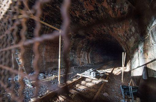 Noch herrscht im Hirsauer Tunnel (bei Calw) Ruhe. Bald soll hier aber die Hesse-Bahn fahren. Foto: dpa