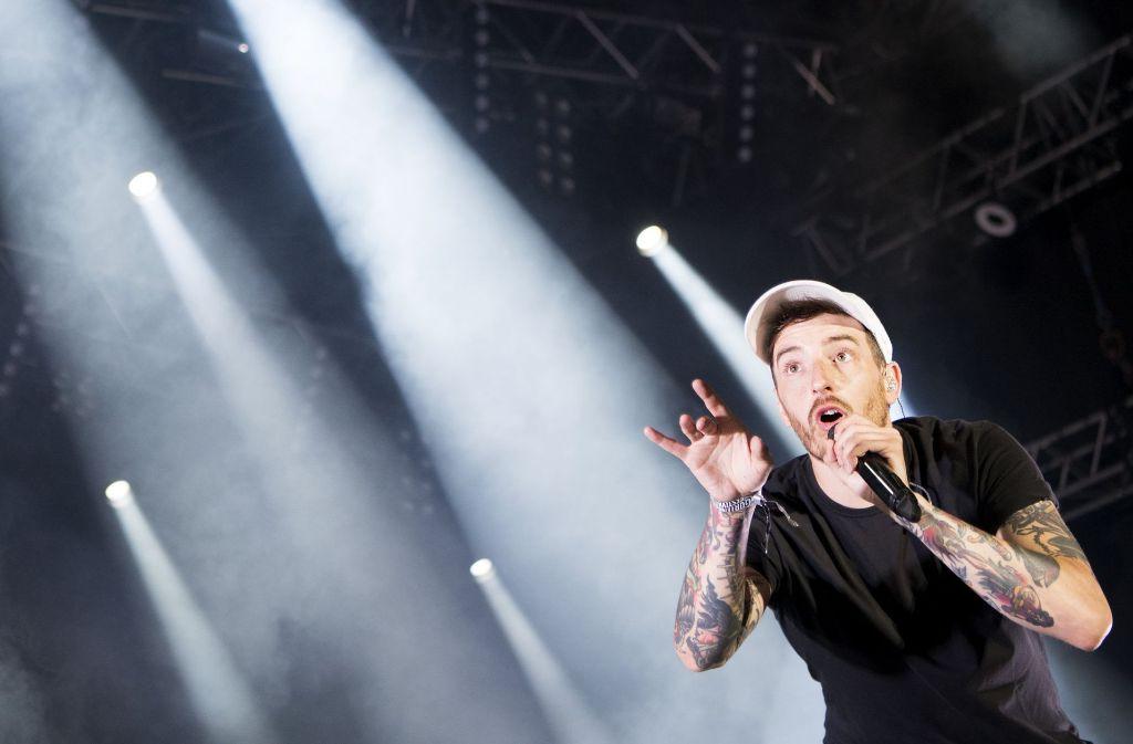 Der Rapper Casper gibt ein Gratis-Konzert in Stuttgart. Foto: dpa