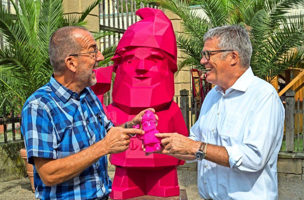 Volker Kugel (links) und Hanspeter Faas. Dazwischen: Karl. Foto: factum/Weise