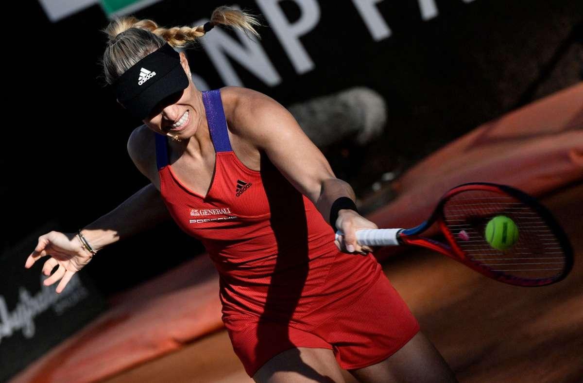 Aus für Angelique Kerber beim WTA-Turnier in Rom Foto: AFP/FILIPPO MONTEFORTE