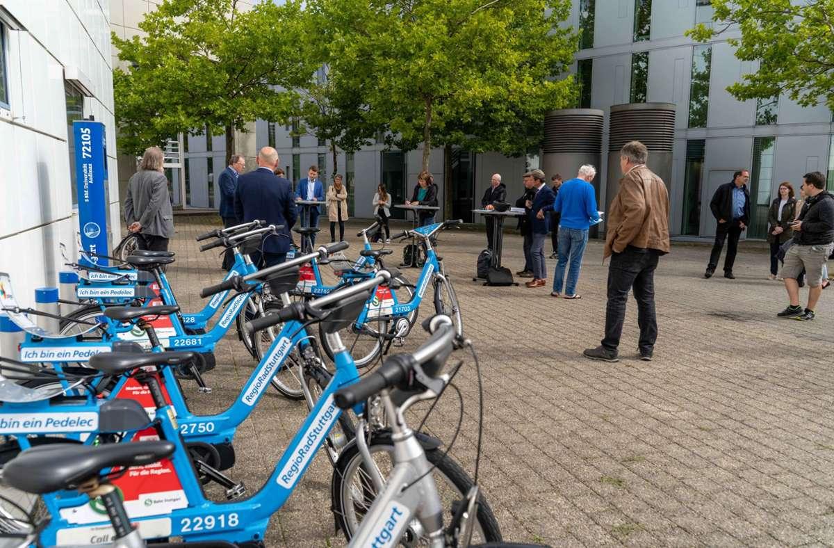 Regiorad-Station auf dem Vaihinger Unicampus soll mehr Studierende und Professoren in die Pedale locken. Foto: Lichtgut/Julia Schramm