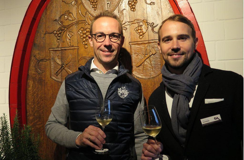 """Ein Brüderpaar startet durch: Hansjörg und Matthias Aldinger  machen laut """"Vinum"""" den besten je erzeugten Lemberger und haben beim """"Gault Millau"""" die fünfte Traube ergattert Foto:"""