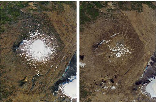 Die großen Gletscher schmelzen dahin