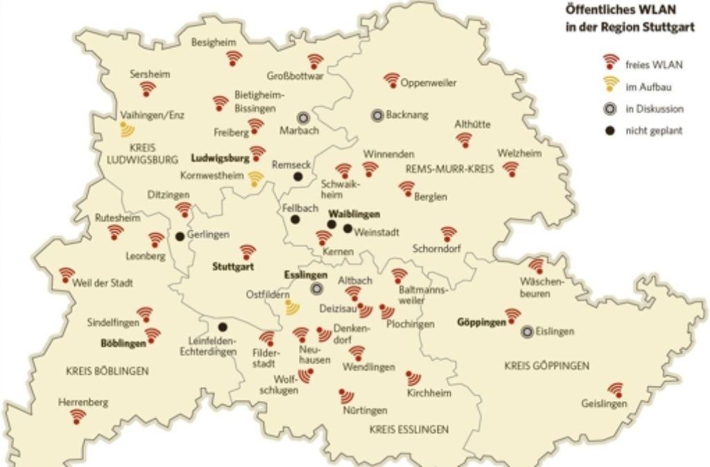 Ein flächendeckendes freies Wlan in der Region Stuttgart wird kaum zu realisieren sein. Foto: StZ