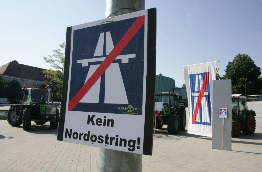Protest gegen den Nordostring Foto: Archiv