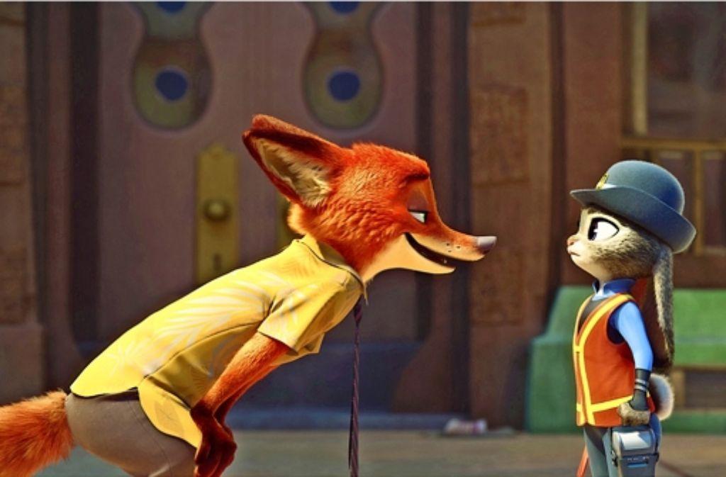 Der durchtriebene Fuchs, ein netter Gauner, weckt alle Vorurteile der  häsigen Jungpolizistin. Foto: Disney