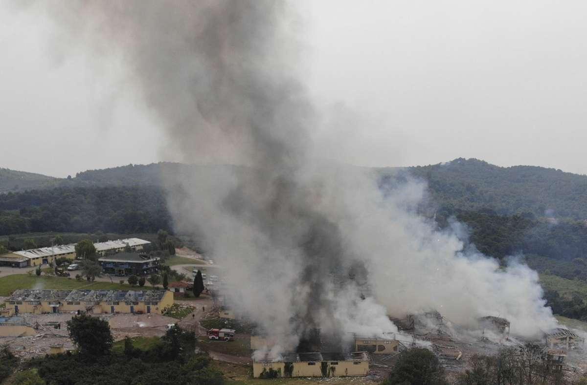 Mindestens vier Menschen starben bei dem Unglück. Foto: dpa/Uncredited