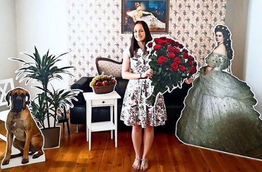 Fotoshooting im Selfie-Raum