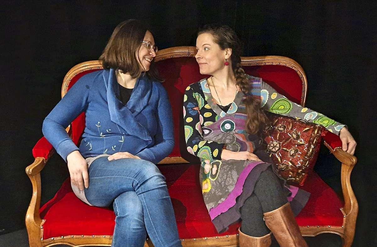 Julianna Herzberg (rechts) zusammen mit Boglárka Pap von La Lune Foto: privat (z)