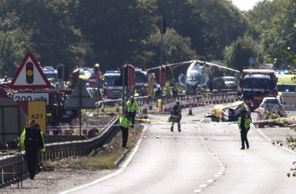 In England ist in der Nähe von Brighton ein Flugzeug abgestürzt. Foto: dpa