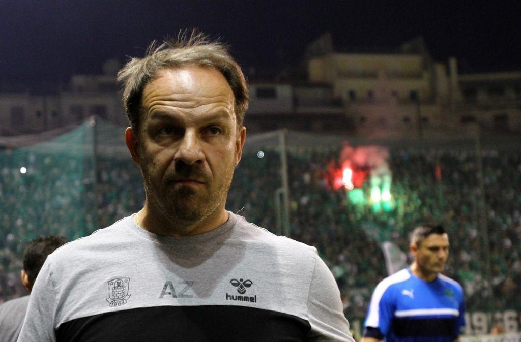 Alexander Zorniger scheitert mit Bröndby IF an Panathinaikos Athen. Foto: EPA