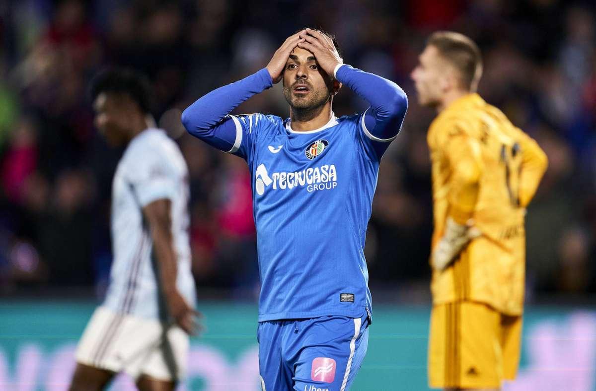 Bitterer Abend für Angel Rodriguez vom FC Getafe. Foto: imago images/A. Perez Meca