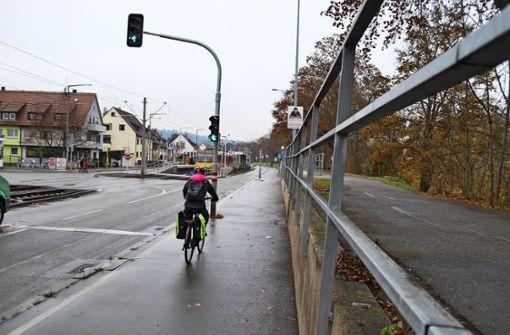 Jeder dritte Radweg  in Stuttgart ist  zu schmal