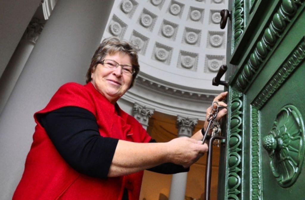 Den Schlüssel zu einem ganz besonderen Ort hat Doris Grau. Foto: Claudia Leihenseder