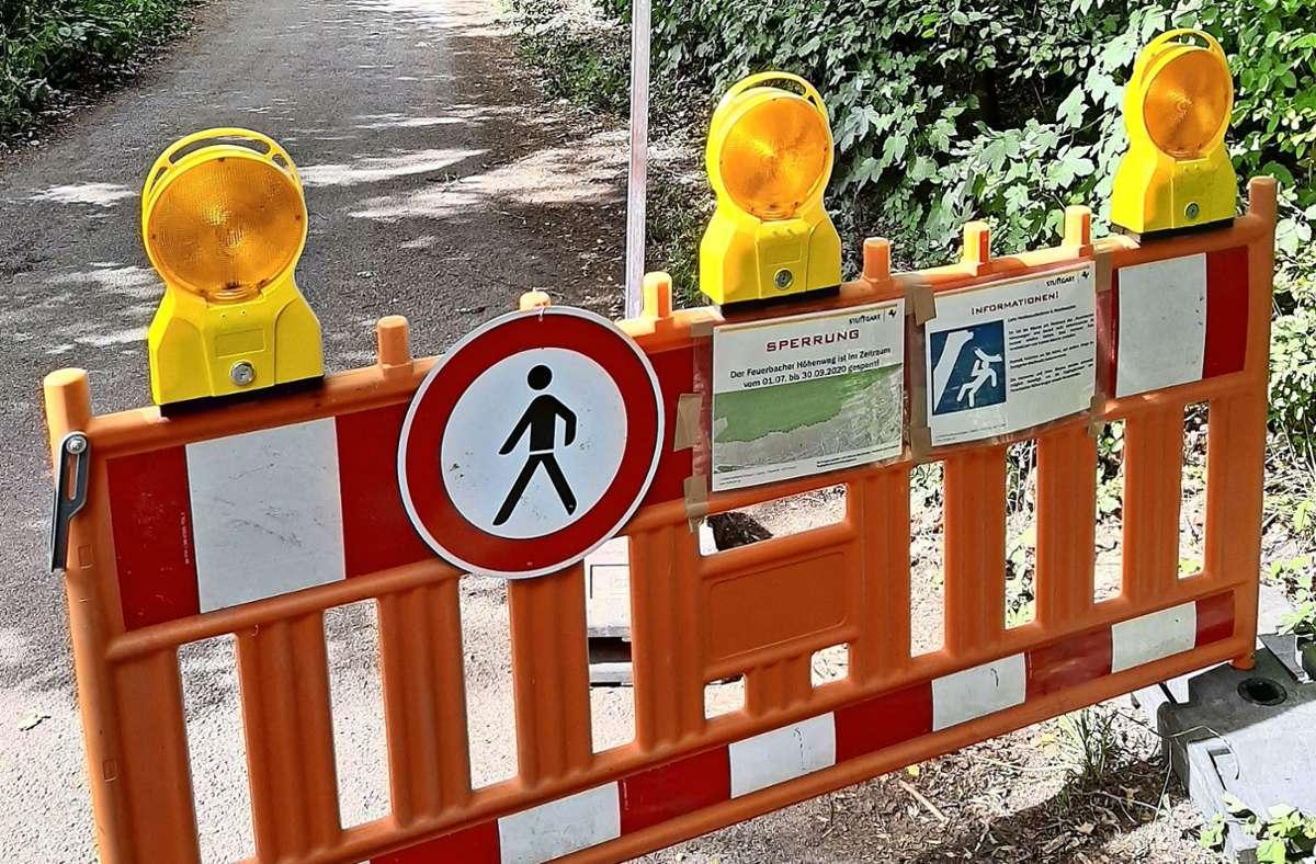 Vermutlich wird es bis zum 1. Oktober dauern, ehe die Barrieren abgebaut sind. Foto: z