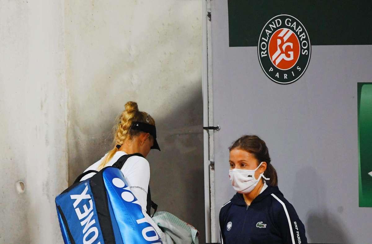 Abgang: in Paris ist für  Angelique Kerber schon in der ersten Runde Schluss. Foto: imago/Paul Zimmer