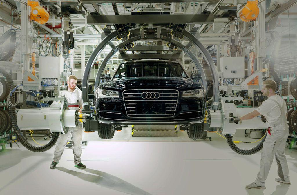 Das Geschäft mit den im Werk  Neckarsulm produzierten Audi-Limousinen läuft derzeit nicht gerade rund. Foto: Audi/Ronald Wittek