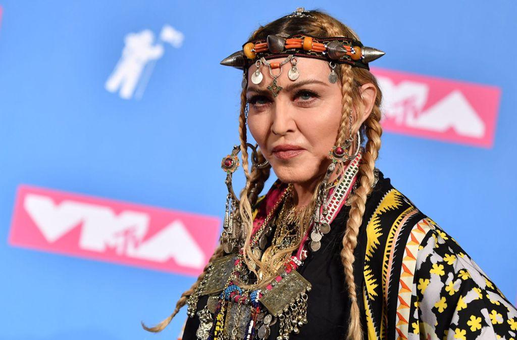 Madonna bei den MTV Video Music Awards in New York. Foto: AFP