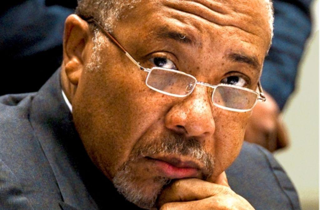 Ex-Präsident Charles Taylor erwartet am Donnerstag sein Urteil Foto: dpa
