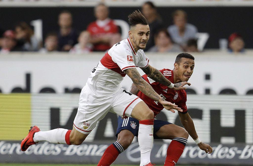 Gegen den FC Bayern stand Anastasios Donis (li.) in der Startelf des VfB Stuttgart – in Freiburg wieder? Foto: AP