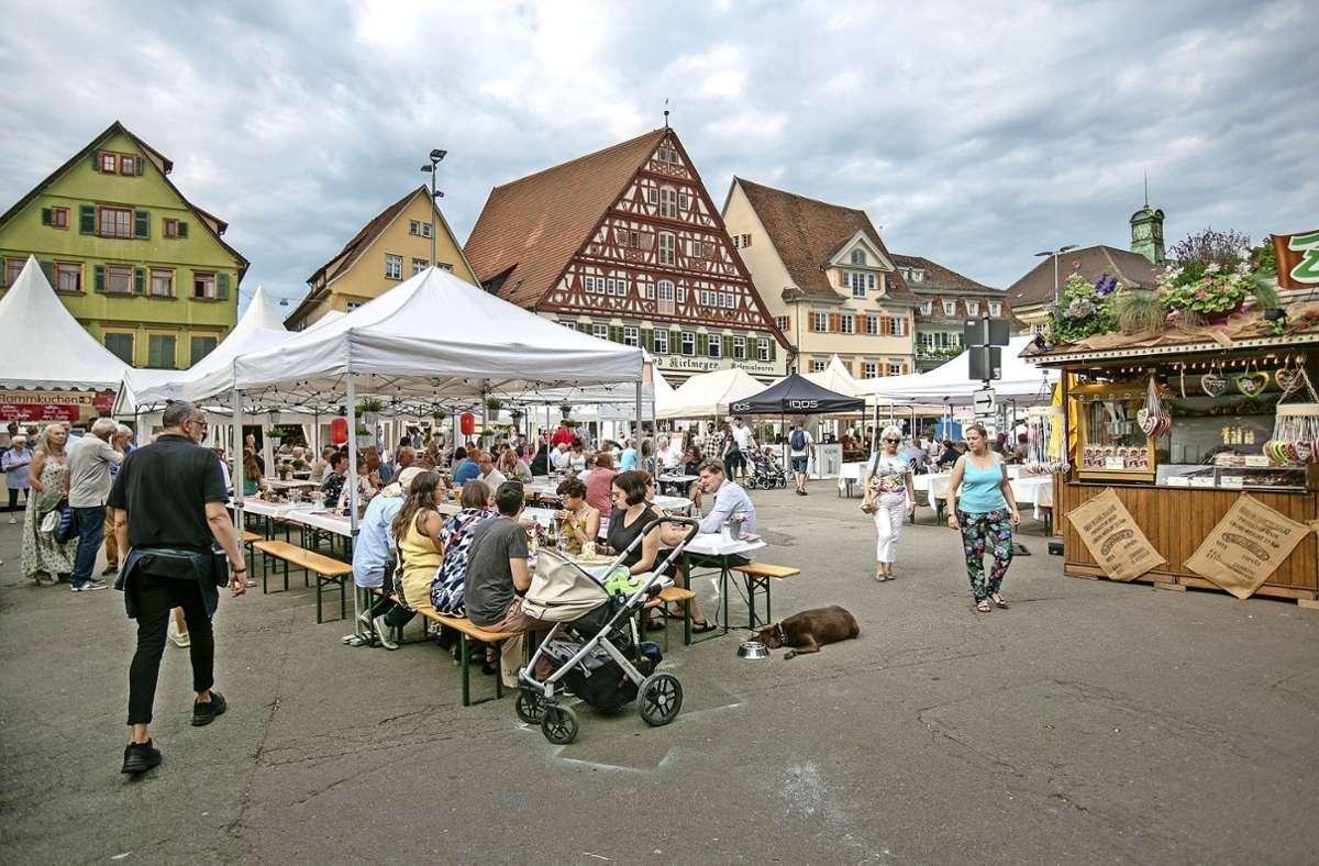 """Der """"Esslinger Sommer"""" wurde 2019 veranstaltet. Ab 2022 soll  das """"Estival"""" als Nachfolger des Zwiebelfestes  für eine Festival-Stimmung in der Neckarstadt sorgen. Foto: Roberto Bulgrin"""