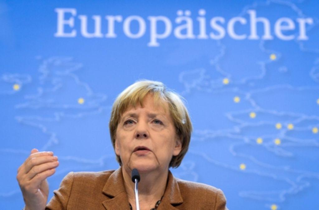 Nach zähen Verhandlungen konnte Angela Merkel auf dem Gipfel in Brüssel Einigungen verkünden. Foto: EPA