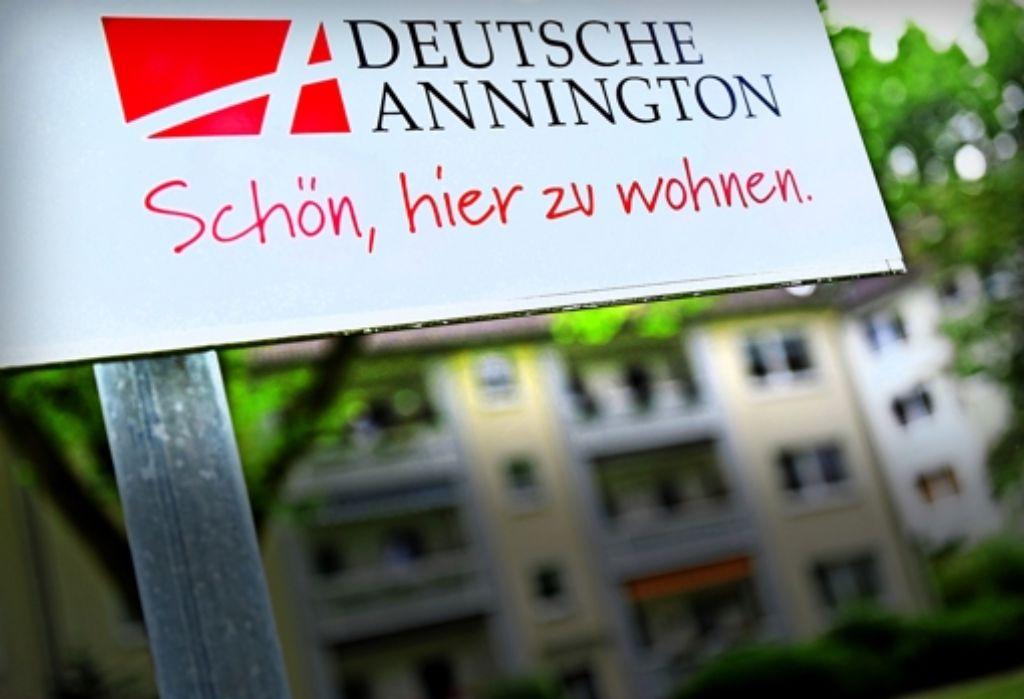 """""""Schön, hier zu wohnen"""", lautet der Slogan der Deutschen Annington. Der Mieterbund appelliert an den Konzern,  die Interessen der Bewohner   auch nach der Übernahme zu wahren. Foto: dpa"""