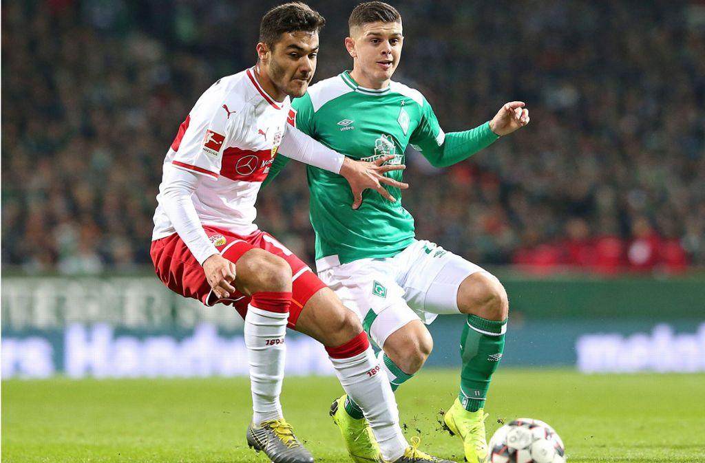 Ozan Kabak (li.) ist in der Abwehr des VfB Stuttgart ein stabilisierender Faktor. Foto: Baumann