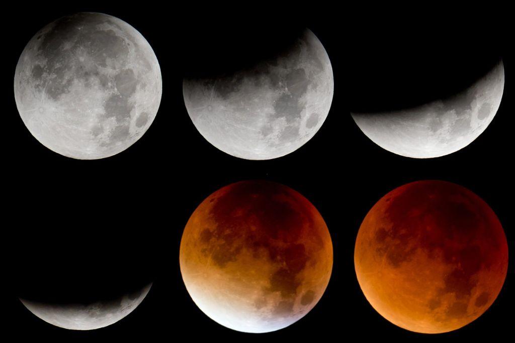 Das Phänomen Mondfinsternis. Foto: dpa