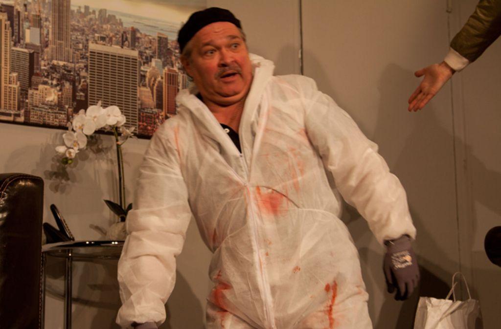 """Markus Hepp als Schotty in der der Theaterfassung der TV-Serie """"Der Tatortreiniger"""", die auf dem Stuttgarter Theaterschiff zu sehen ist Foto: Theaterschiff"""