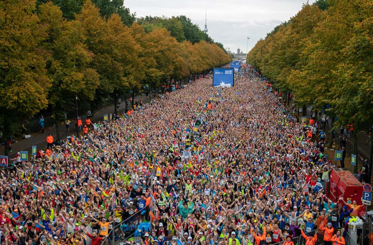 Der Berlin Marathon ist zum ersten Mal in seiner 47-jährigen Geschichte ausgefallen. Foto: imago/Tilo Wiedensohler