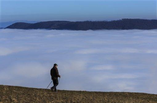 Wanderer über dem Nebelberg Foto: Wilhelm Mierendorf