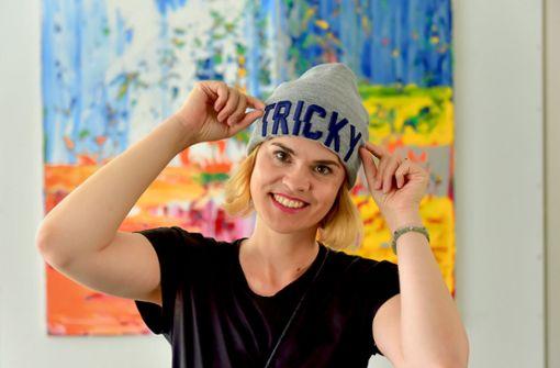 Bloggerin Trickytine und ihre Tricky-Mütze