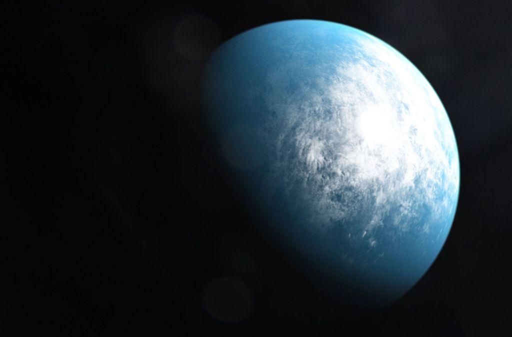 So stellt sich ein Künstler der Nasa den Exoplaneten TOI 700 d vor. Foto: AFP/HANDOUT