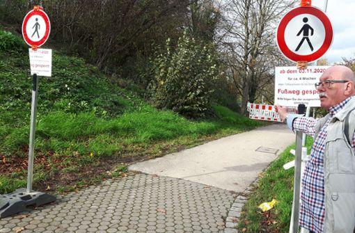 Fußweg  an Heilbronner Straße vier Wochen gesperrt