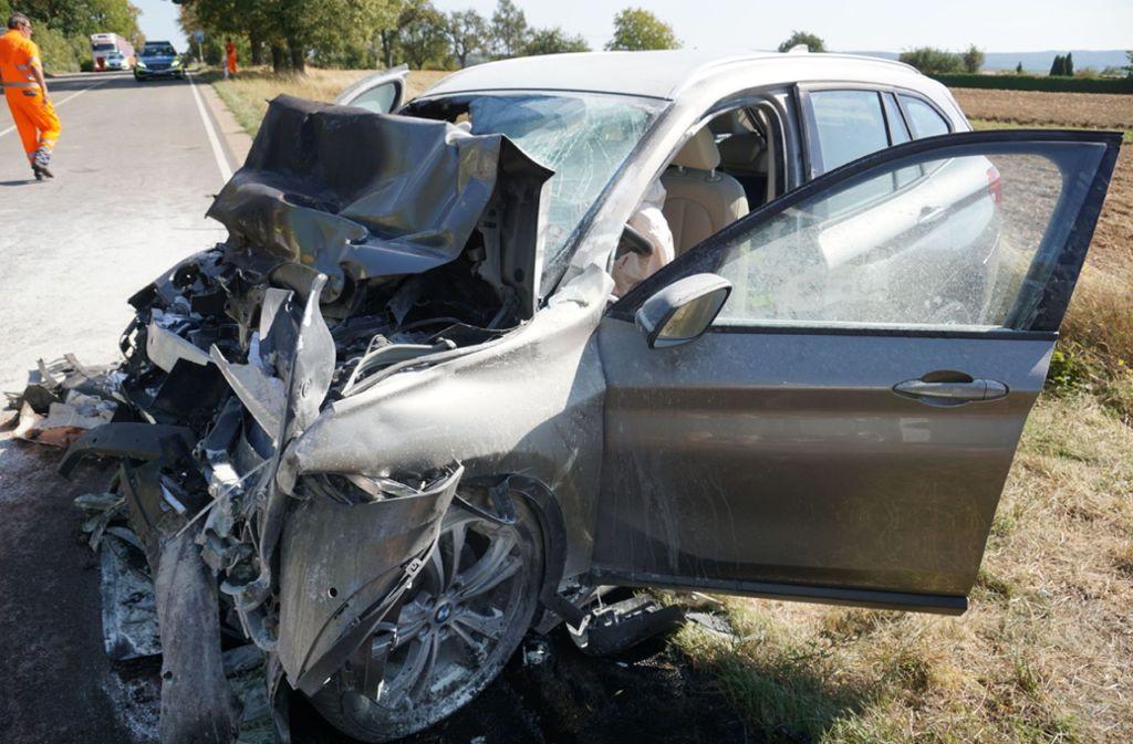 Der Autofahrer überlebte den Aufprall nicht. Foto: SDMG
