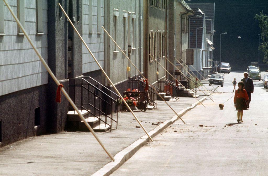 Im September 1978 bebte in Albstadt (Zollernalbkreis) in Erde. Die Schäden waren enorm. Foto: dpa