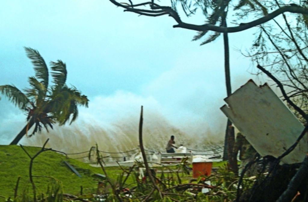 Viele Ortschaften von Vanuatu wurden von dem Zyklon zerstört. Foto: AFP
