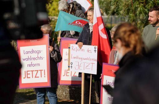 Diese Frauen wollen eine Reform des Landtagswahlrechts – und zwar bald
