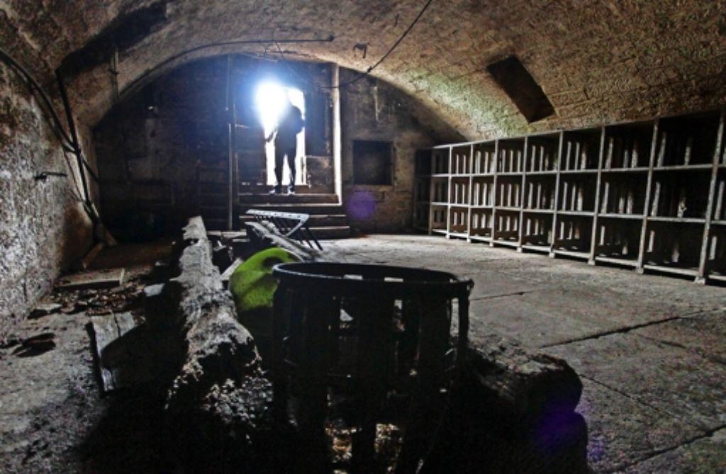 Gewölbe mit Tageslicht: die Keller auf dem Sonnen-Areal (hier der jüngere) reichen nur wenige Meter unter die Erde. Foto: factum/Granville
