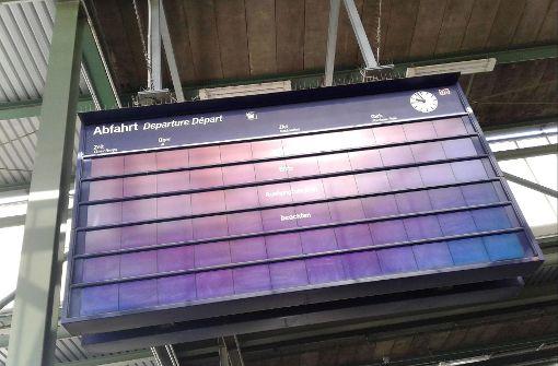 Anzeigetafeln der Bahn fallen aus