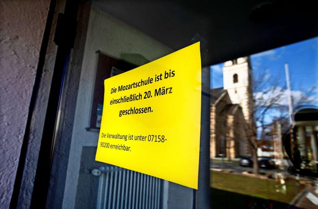 Die Schüler der Mozart-Grundschule haben ab sofort    unterrichtsfrei. Foto: Horst Rudel
