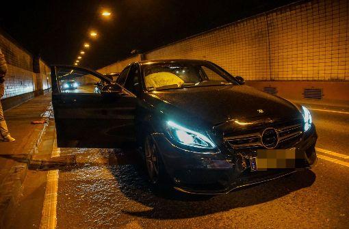 Wagenburgtunnel nach Unfall gesperrt