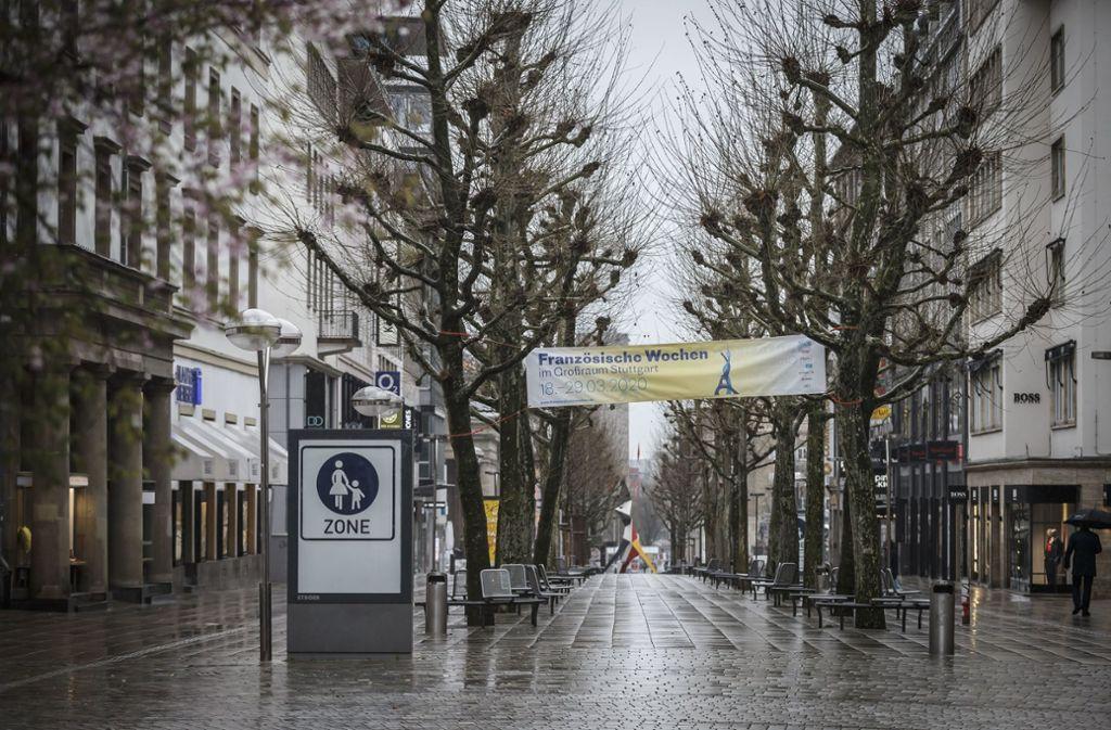 Auch an der Stuttgarter Königstraße ruht der Verkauf. Für viele Unternehmen ist die Situation ein finanzielles Desaster. (Archivbild) Foto: Lichtgut/Julian Rettig