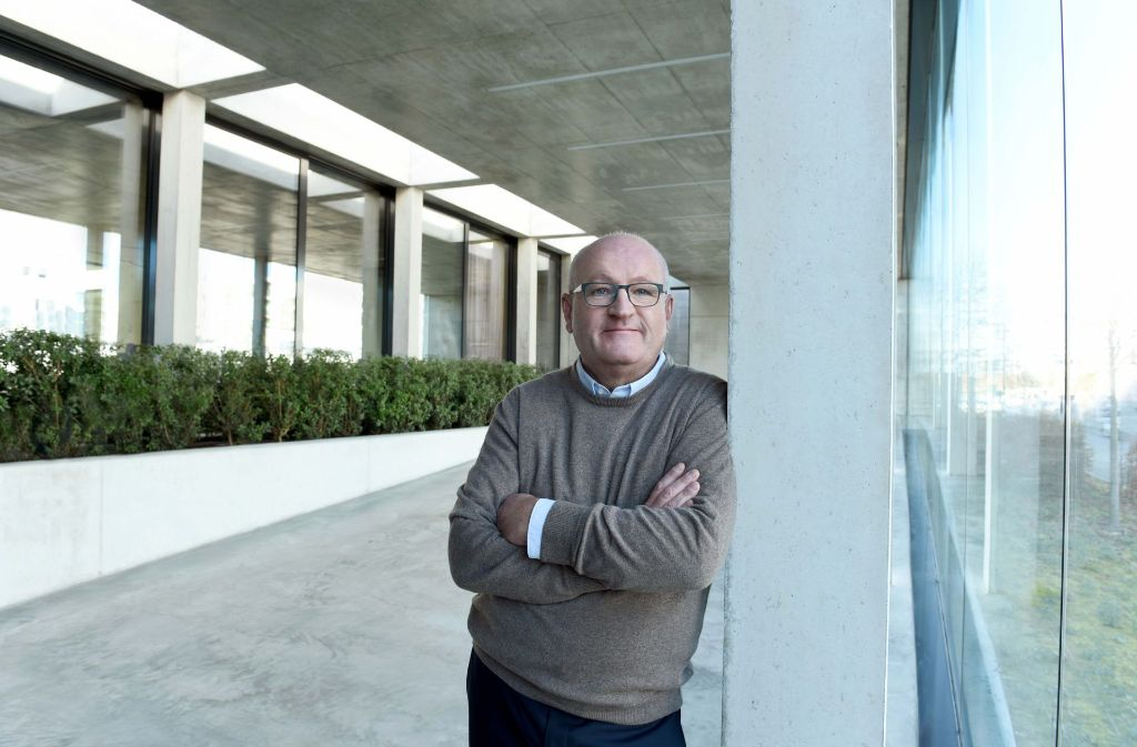 """Mehr Raum für """"digitale Pioniere"""": GFT-Chef Ulrich Dietz  erweitert den Innovationscampus. Foto: Dannenmann"""